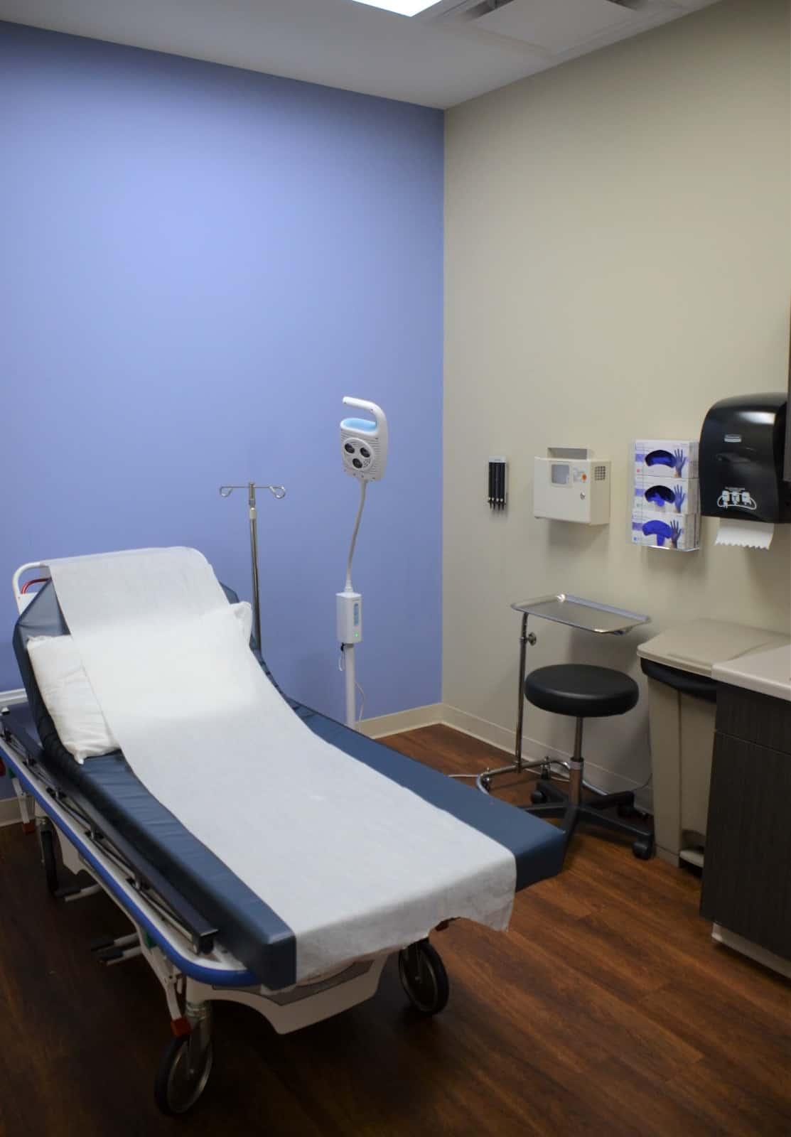 Mediq Urgent Care Greensboro Exam Room